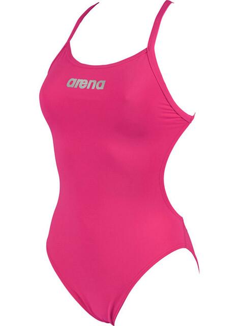 arena Mast High Swimsuit Women fresia rose/metallic silver